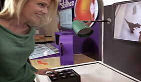 The Animation Station exhibit gives visitors opportunities to create their own stop-motion animations by moving objects on a stage and taking a series of still frame images. A computer inside the exhibit helps makes the recording a series of frames quick and easy. Visitors can share their videos on YouTube, or send them to themselves …