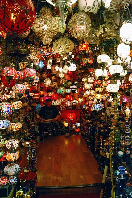 The lamps seller - The Grand Bazaar - IstanbulThe Grand Bazaar in Istanbul is one of the largest covered markets in the world with 60 streets and 5,000 shops... by Giuseppe Finocchiaro, via Flickr