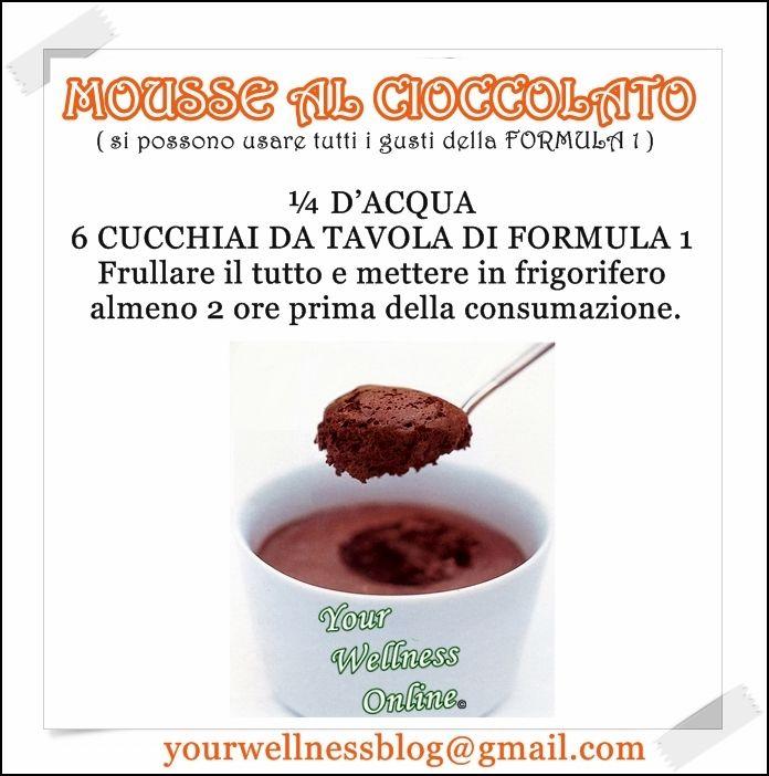 Mousse al Cioccolato !!! Semplice e gustosa...ideale per tutti i palati . Per info : yourwellnessblog@gmail.com
