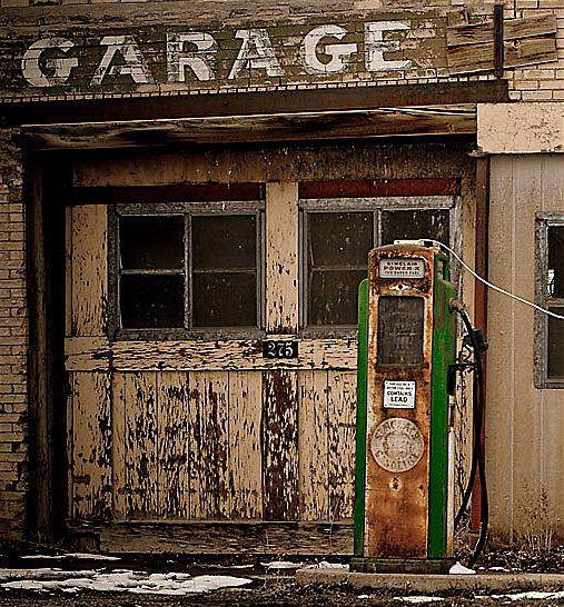 Esta estación de servicio, en algún lugar de la Ruta 66.