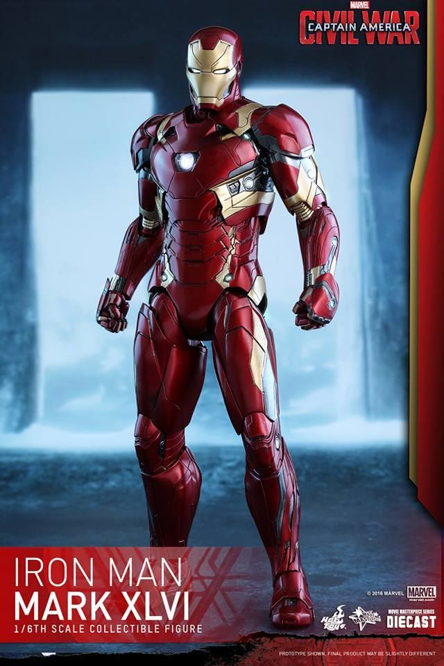 The Avengers 3 Infinity War Iron Man Mark MK46 Ironman Action Figure Base