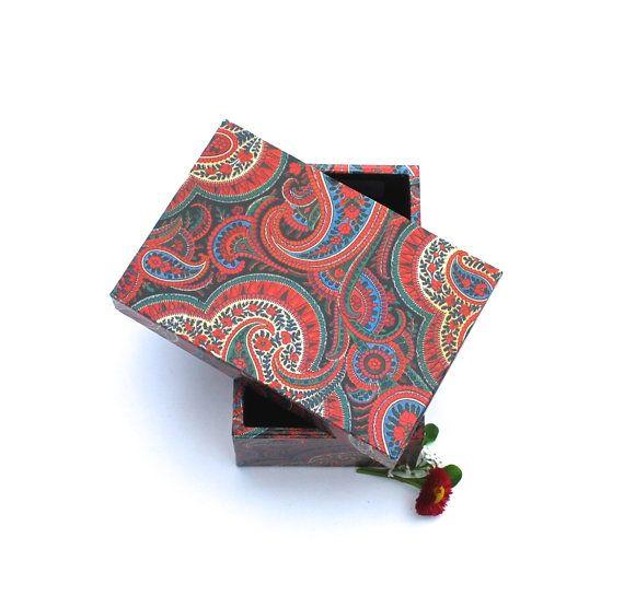 Box storage paisley jewelry box handmade gift box gift von Arsunica