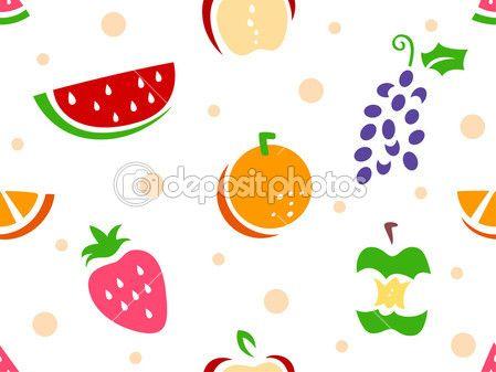 plantilla fondo de frutas