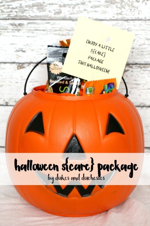 a halloween care package {or scare package} for a college student or a faraway friend