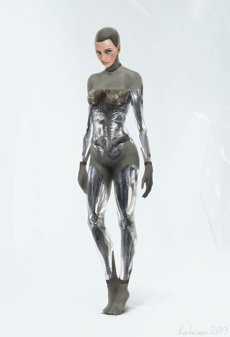 Ava by Karl Simon (Ex Machina concept art) I love the unique structure and beauty of the android/robot in this film! So gorgeous!