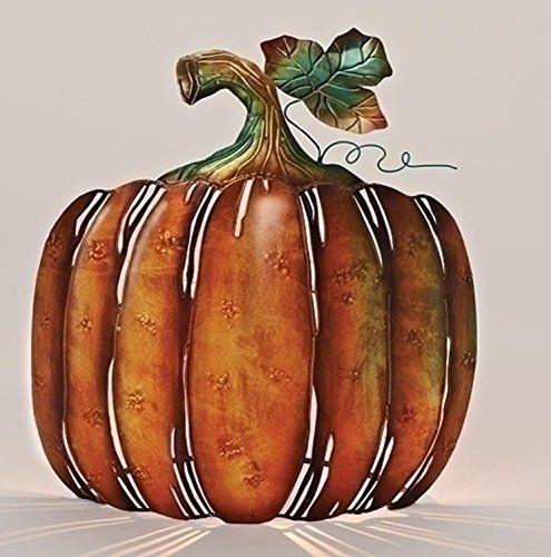 13 Autumn Burnt Orange and Green Metal Pumpkin Tabletop Votive Candleholder * For more information, visit image link.