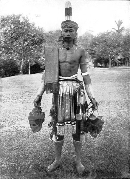 Dayak-borneo traditional warrior
