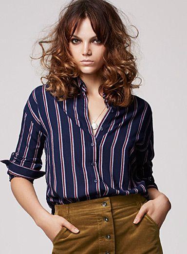 Exclusivité Icône Une chemise ample à la coupe d inspiration boyfriend ... 67f5b877e3e8