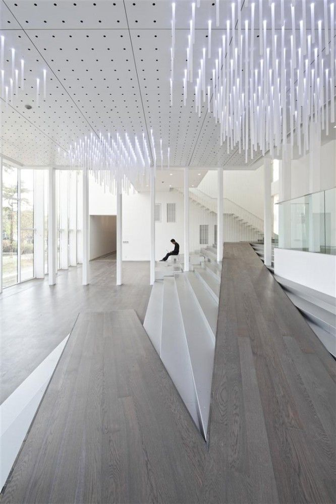 White Block Gallery - exhibition and cultural space at the heart of the Heyri Art Valley in South Korea by SsD