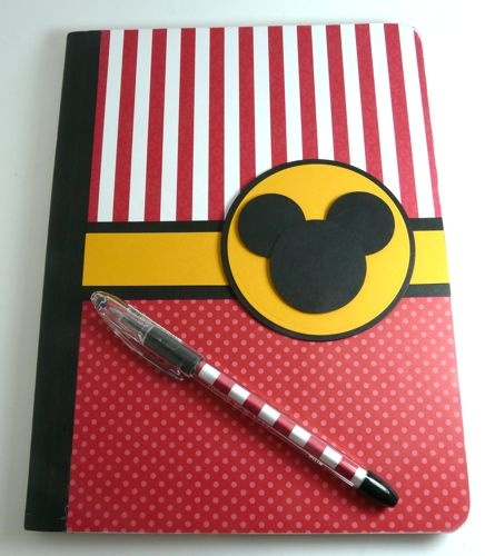 Mickey Notebook, make yourself, put a picture of disney character on each page for autographs in ABC order