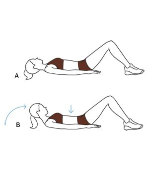 No-Crunch Ab Workout Move: Head Lift Exercise