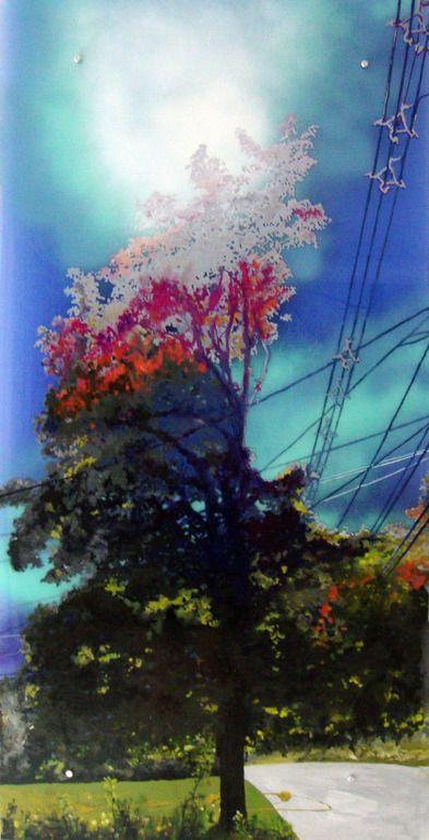 Powerline Tree Painting by Cara Enteles; Oil 2011
