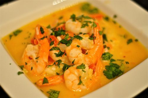 Coconut Shrimp Soup. Tried this at a restaurant in Carmel. Delicious.