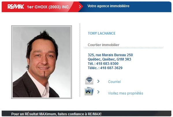TONY LACHANCE Courtier immobilier