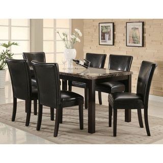 Shop for Carter Faux Marble Top Dining Table. Get free shipping at Overstock.com - Your Online Furniture Outlet Store! Get 5% in rewards with Club O!