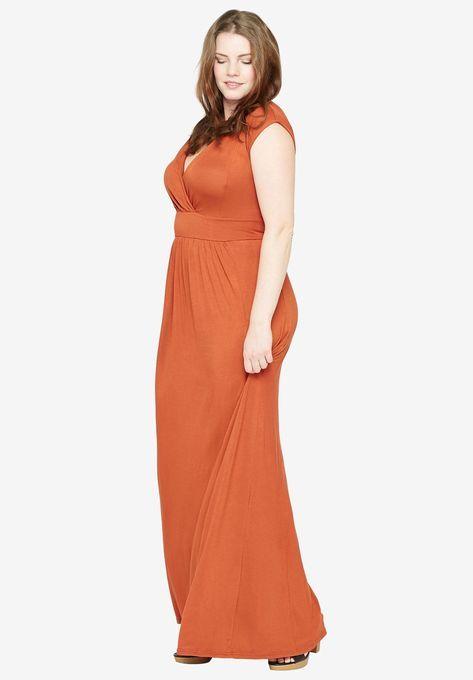 39b096b1d3 Knit Maxi Dress by Castaluna | clothes | Dresses, Casual dresses ...