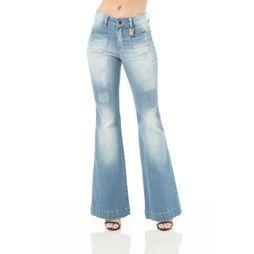 Calça Flare Osmoze - Jeans Claro