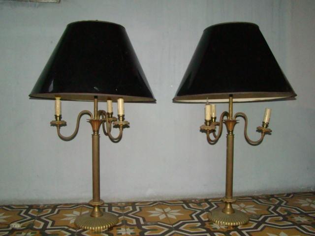 Par de lamparas grandes estilo ingles de bronce