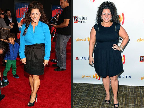 Marissa Jaret Winokur's Weight-Loss: Such an inspiration, she did it on her own, counting calories and excersizing every day.