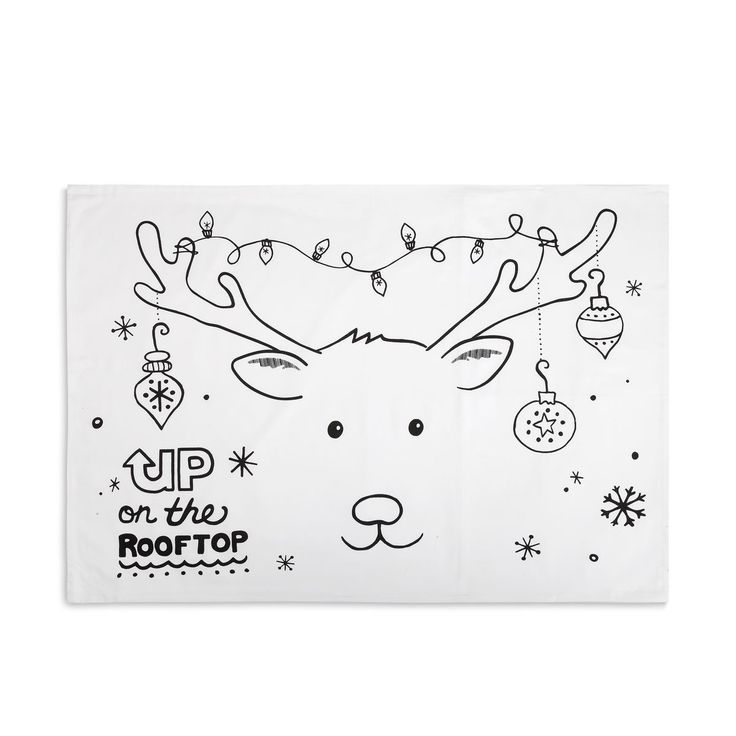 - Your child will have fun leading up to the holidays with this Reindeer Doodle Pillowcase - Coloring book Christmas design on pillowcase that child can color-in with included fabric markers - Graphic More