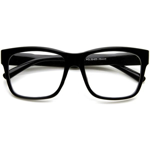 Large Retro Clear Lens Nerd Hipster Horned Rim Glasses 8789 (130 ZAR) ❤ liked on Polyvore featuring accessories, eyewear, eyeglasses, wayfarer eyeglasses, thick glasses, horn rimmed glasses, square glasses and clear wayfarer glasses