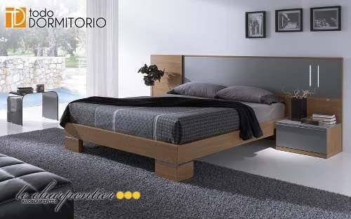 Cama Respaldar Juego Dormitorio Moderno Le Carpentier D173 - $ 6.500,00