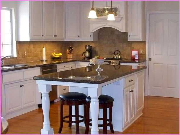 Narrow kitchen island with seating at end google search for Kitchen island with round seating area