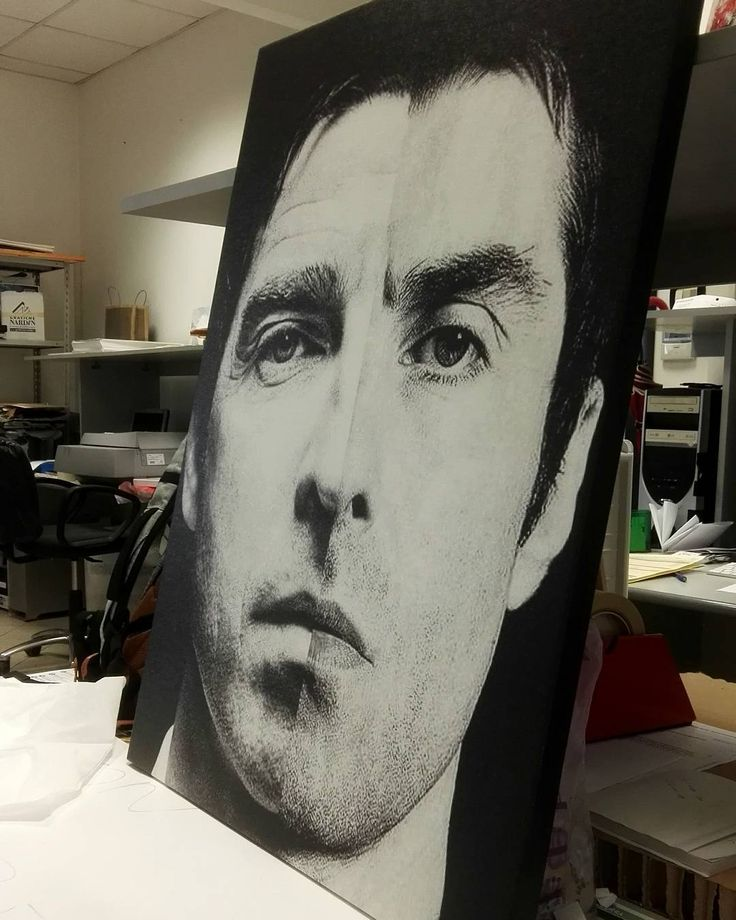 Two Faces of Gallagher Brothers Printed on Canvas Mead to Measure! . . .