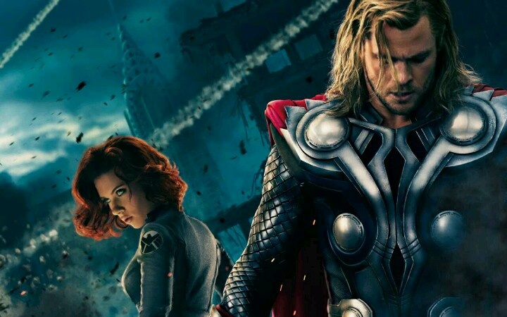 Thor and black widow