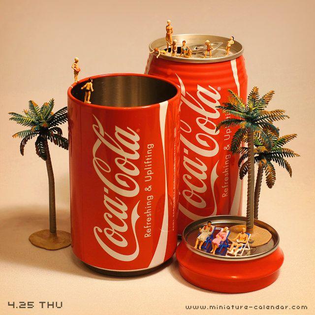 Coke Pool http://miniature-calendar.com/130425/