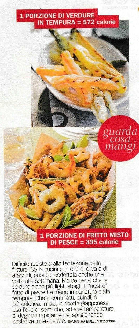 calorie - verdure in tempura vs fritto misto di pesce
