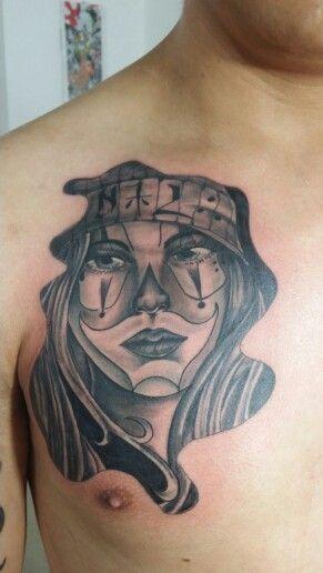 Jokergirl#chicano# costum design # HIGHLIFE TATTOOS QUITO/ ECUADOR