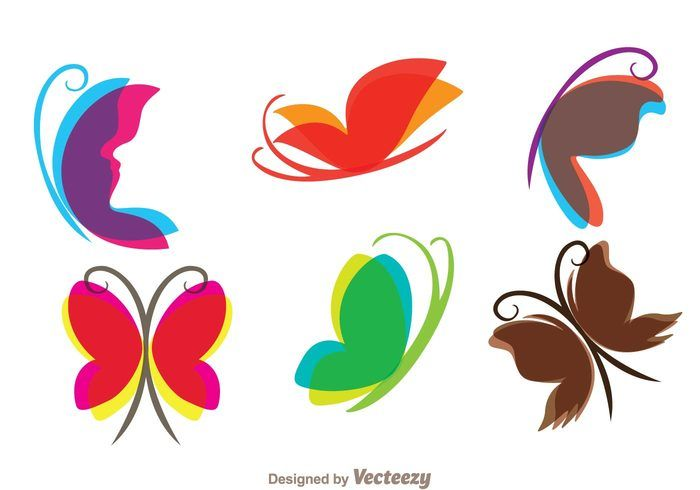 Free vector Flying Butterfly Icons #22482