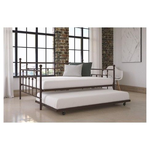 Victorian sophistication, this bed will make the perfect centerpiece in any bedroom. Made in a sturdy metal frame with solid metal slats, it will keep your mattress fresh for longer as the slats allow air to pass freely without needing a spring box. The Room & Joy Milan bed has additional legs that provide stability and durability to ensure you'll sleep safely. Finally, this bed offers two height options so that you can adjust under-bed clearance to your convenience.