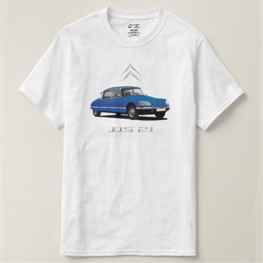 Citroën DS 21 blue - metallic badges DIY  #citroends #citroen #automobile #classic #car #tshirt #blue