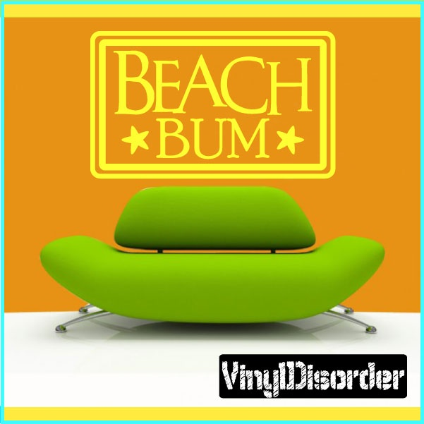 "Beach Bum Summer Holiday Vinyl Wall Decal Mural Quotes Words HD127    15"" starting at $10.00"