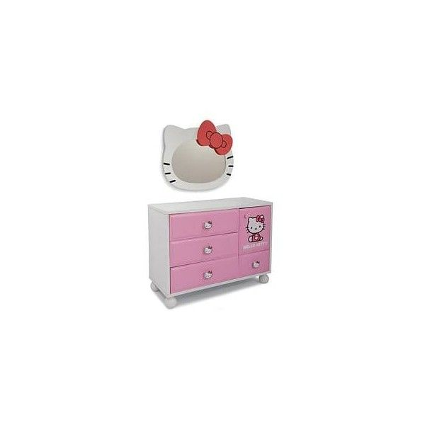 Najarian Furniture Hello Kitty Dresser Mirror ($110) ❤ liked on Polyvore featuring home, home decor, mirrors, hello kitty, hello kitty home accessories, hello kitty mirror and hello kitty home decor