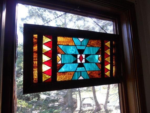 navajo stained glass window via Etsy