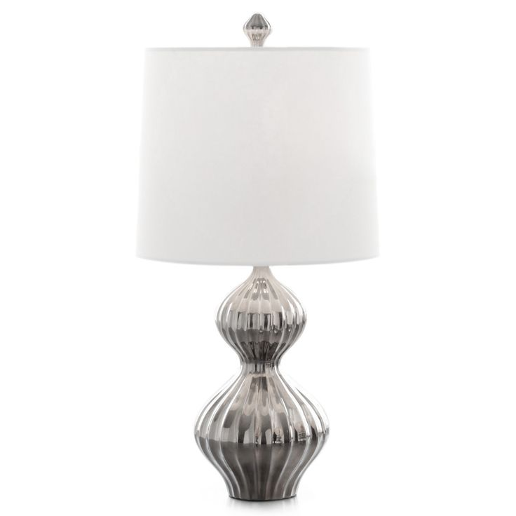 Modern lighting platinum nelson table lamp jonathan adler
