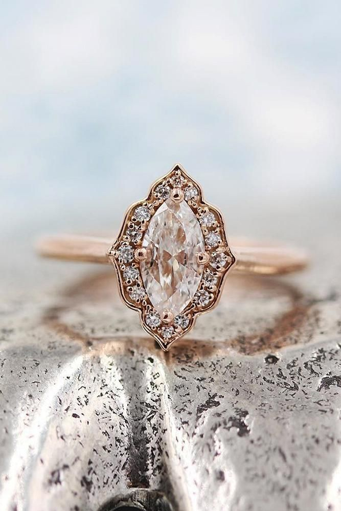 colored engagement rings rose gold engagement rings morganite engagement rings m…