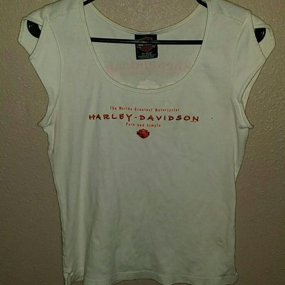 Harley Davidson Shirt Nice white shirt MOTOR HARLEY DAVIDSON CYCLES Jackets & Coats