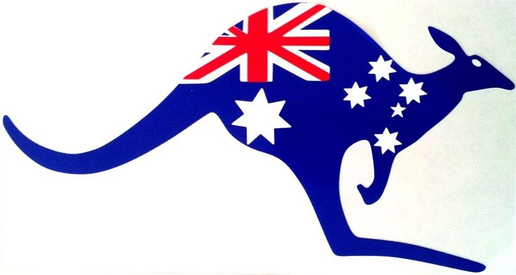 #Kangaroo #Australia #Flag - A great place. The Holidays are great fun there in Sydney. Never spent the holidays in Melbourne but I bet it's awesome