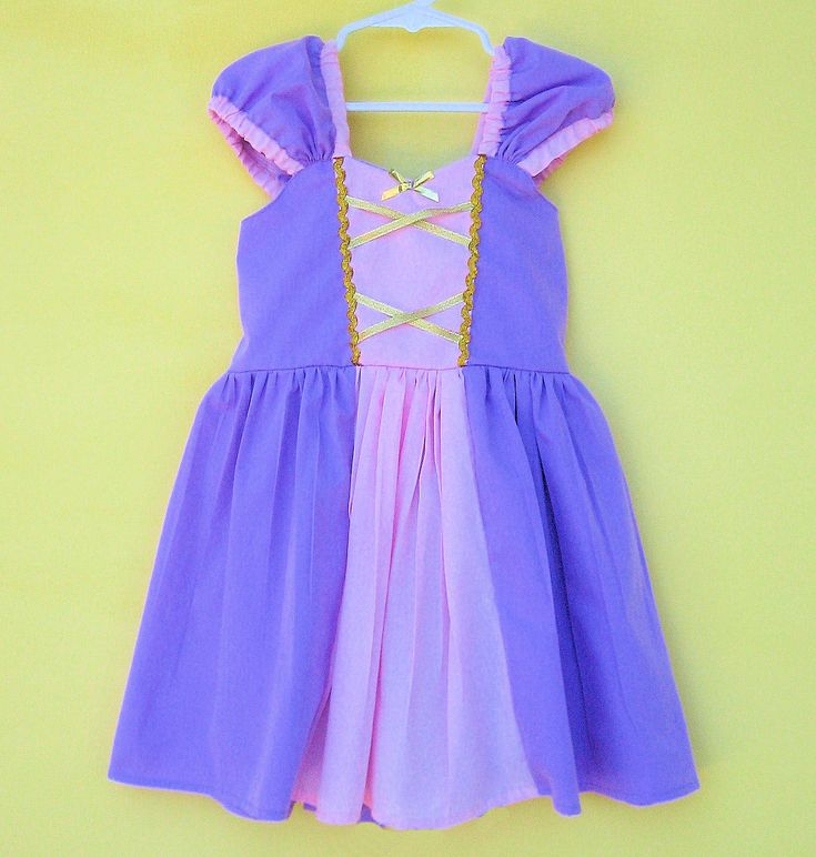 RAPUNZEL costume dress  princess dressfor toddlers and girls fun for special occasion or birthday party costume. 42.00, via Etsy.