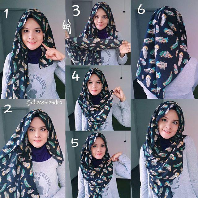 Super The 25+ best Square hijab tutorial ideas on Pinterest | Hijab  VW71