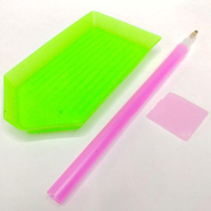 New Nails Kunst Strass Picker Platte + Steine Punktierung Pen + diamanten Picker Gel Cube Handliche DIY Chatons Picking Werkzeuge 3 teile/satz