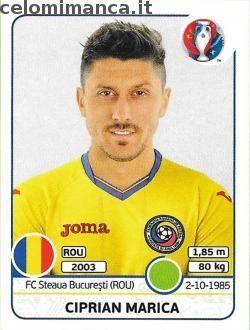 UEFA EURO 2016™ Official Sticker Album: Fronte Figurina n. 68 Ciprian Marica