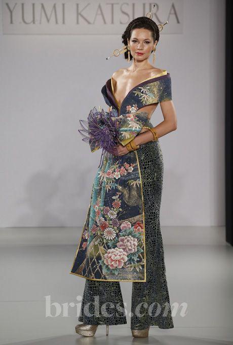 "Brides.com: Yumi Katsura - Fall 2013. ""Haute Couture"" Paris collection washi blue, Yumi Katsura  See more wedding dresses in our gallery."