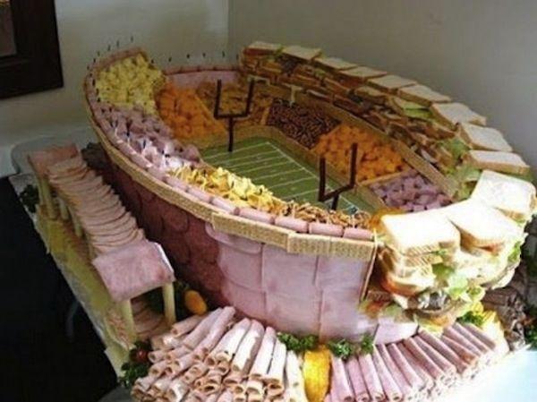 Deli meeeeaaaat.    21 Incredible Football Stadiums Made Of Snacks