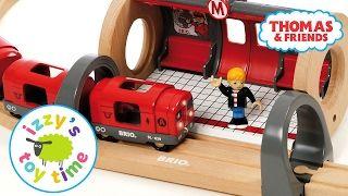 Thomas and Friends   Thomas Train and Brio Metro Railway with Playmobil   Fun Toy Trains for Kids - YouTube