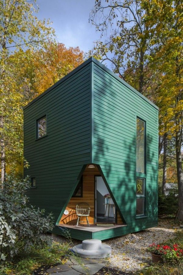 Little Green Cabin: Modern Guest House | Tiny House Pins
